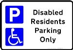 Printable Disabled Parking Sign free template for Residents clip art or low cost vinyl